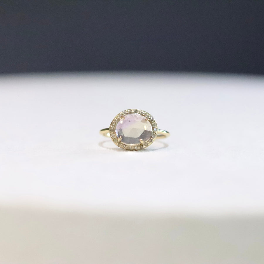 Ametrine Diamond Ring