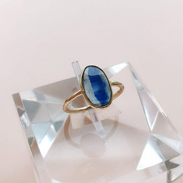Oval Rose Cut Kyanite Ring K10 【Sophia】