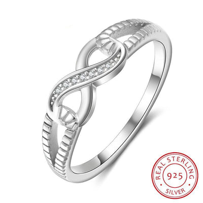 925 Sterling Silver Infinity Rings for Women Endless Love Symbol Wedding Personalized Engraved Ring Jewelry Gift for Mother