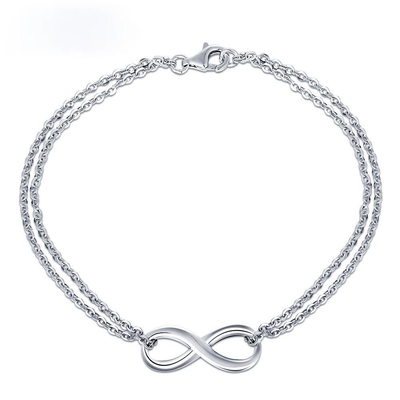 925 Sterling Silver Infinity Bracelets for Women Trendy Bracelets & Bangles Anniversary Gift for Women