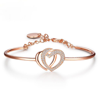 Classic Hearth To Heart Accessorise Bangle Rose Gold Color Bracelets & Bangles For Women Party