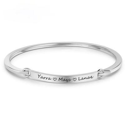 Personalized ID Braceles Customize Engrave Name 2 Colors Fashion Bracelets & Bangles for Women