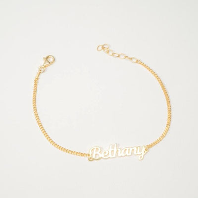 Custom Figaro Name Bracelet