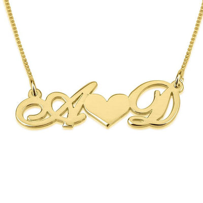 Custom Love Forever Initial Letter Necklace
