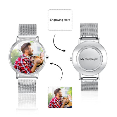 Custom Photo Design Watch Nice Brand Unisex Watches with Pics and Photos Steel Strip Crystal Bracelet Watch