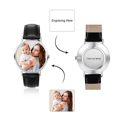 Custom Photo Design Watch Photo Surface Minimalist Unisex Wrist Watches