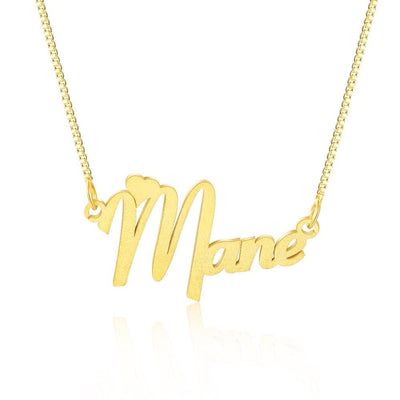 Customized Nameplate Necklace with Heart Personalized Letter Name Pendants for Women Jewelry Anniversary Gifts