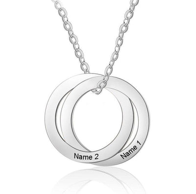 Customized Stainless Steel Circle Necklaces for Women Personalized Name Pendant Necklace Jewelry Valentine's Day Gift