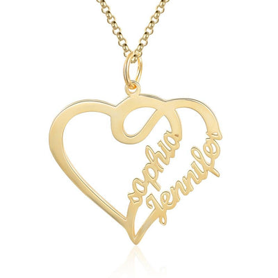 Personalized Name Heart Necklace & Pendants Gold Color/Rose Gold/ Silver Color Custom Made Women Necklaces Gifts for Girls