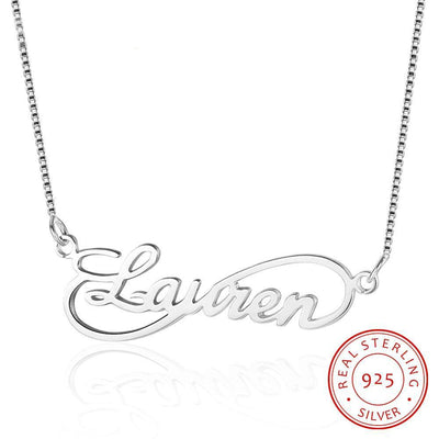 Infinity Love Nameplate Necklace 8 Shape Personalized 925 Sterling Silver Russia Name Necklace Gift For Wife