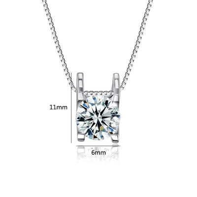 Fashion 925 Sterling Silver Necklaces Pendants For Women Trendy Flash Round Zirconia Wedding Choker
