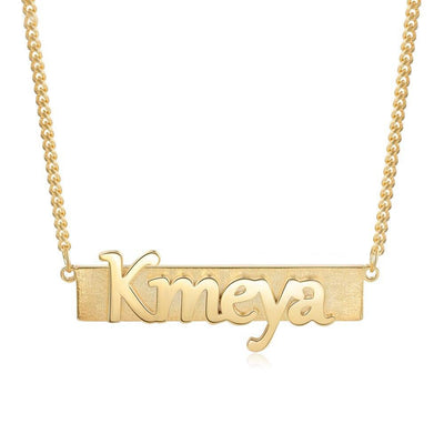 Personalized Custom Made Nameplate Necklace Women Color color Customized Letter Necklace Birthday Gifts for Girlfriend
