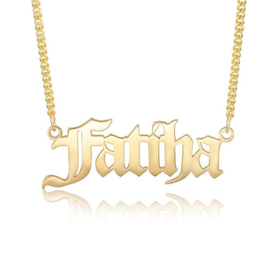 Personalized Men Nameplate Necklaces Customized Letter Name Pendant Necklace Stainless Steel Anniversary Fathers Day Gifts