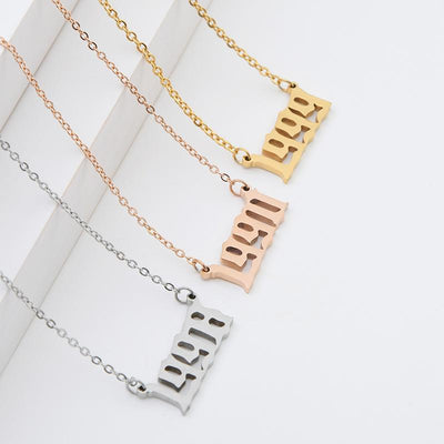 Personalized Roman Number Necklace