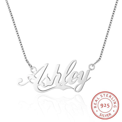 Portuguese Name Necklace 925 Sterling Silver Handmade Necklaces & Pendants Personalised Gift For Her
