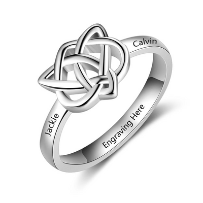 Celtics Knot Custom Engraved Name Ring Vintage Ring Nice Gift For Important Person