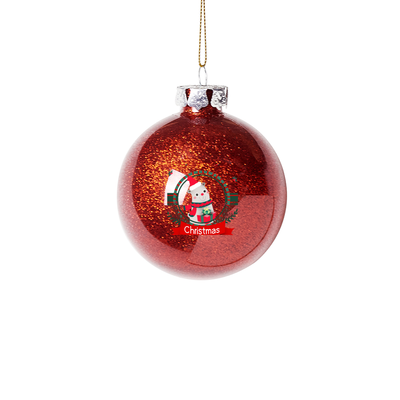 Red Christmas Round Ball Christmas Tree Baubles Ornaments Ball for Christmas Party Birthday Wedding Decorations
