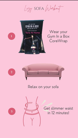 Gym In A Box slim down on the couch