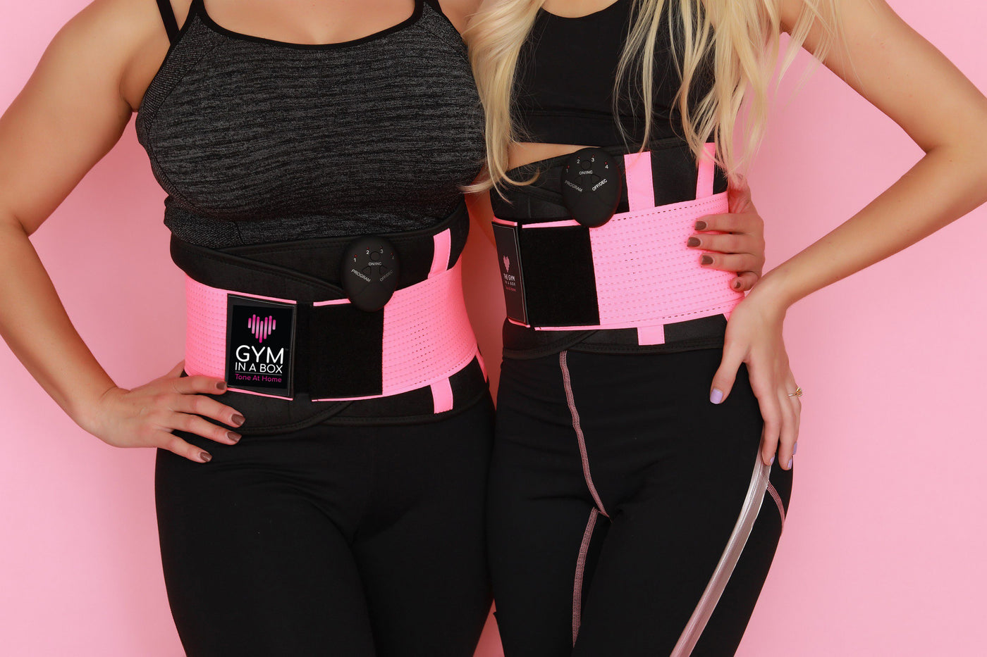 GYM IN A BOX CoreWrap Waist Trimmer HOT PINK