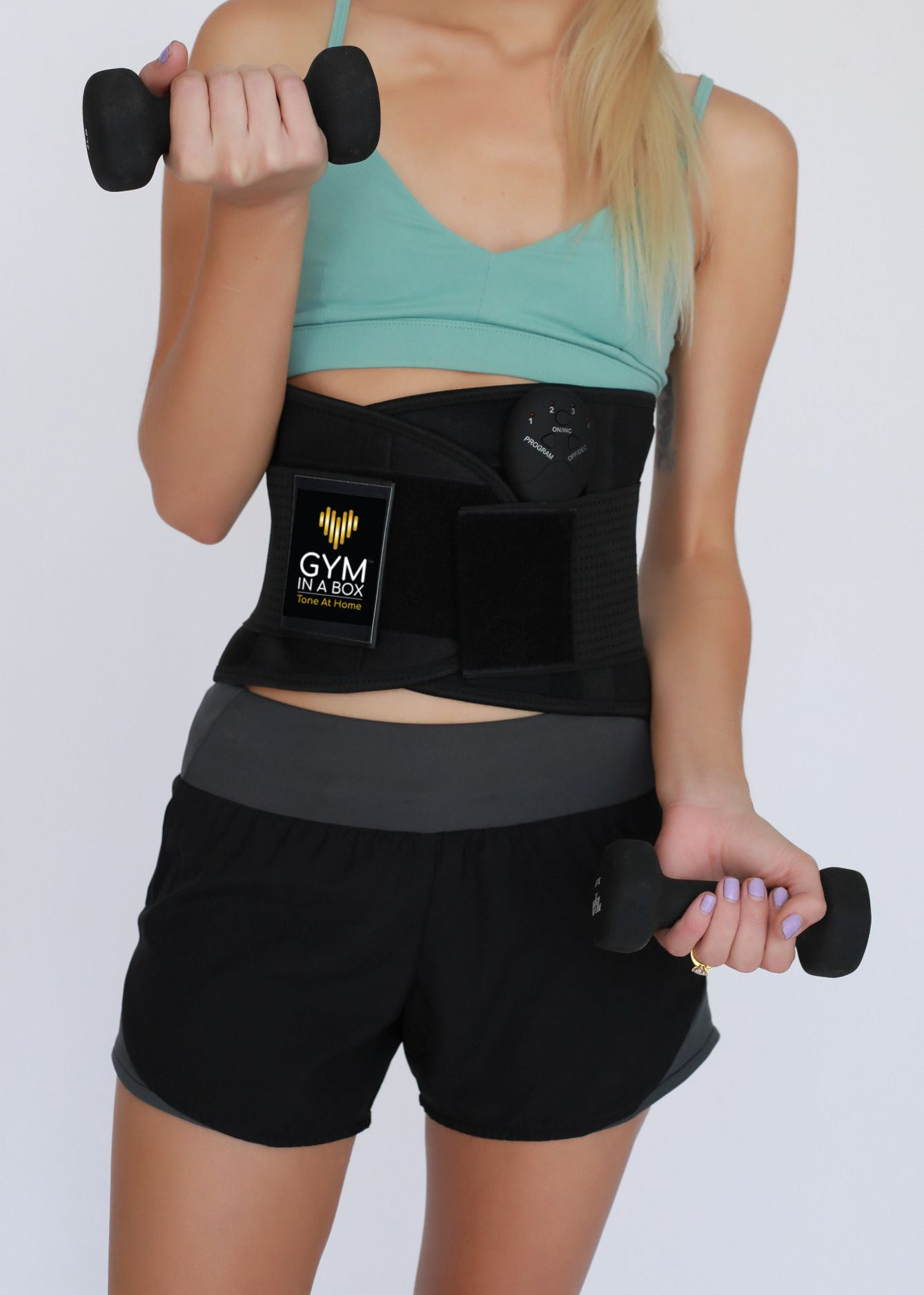 GYM IN A BOX CoreWrap Waist Trimmer CARBON BLACK