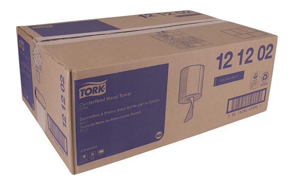 Tork Advanced Centerfeed Towels 2 ply - White, 6 rolls/case
