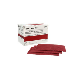 Scotch-Brite™ Durable Flex Hand Pad, 7847, Maroon, 9 in x 4-1/2 in (22.86 cm x 11.43 cm)