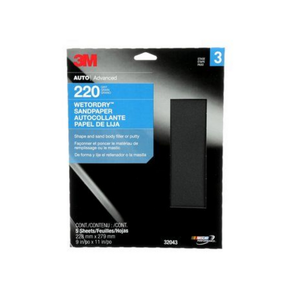 3M™ Sandpaper, 9 in x 11 in, Pack of 5