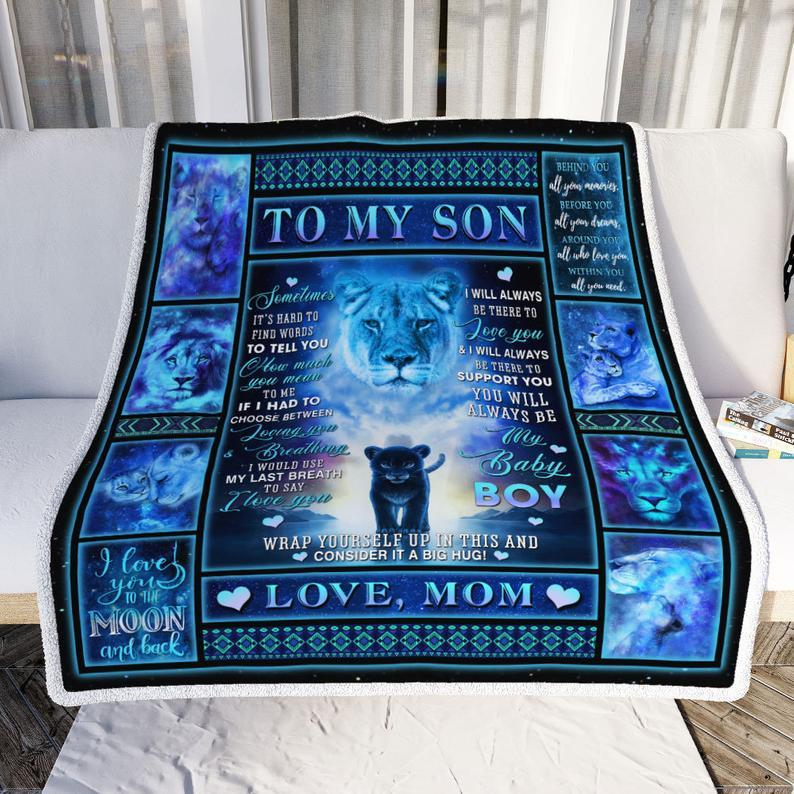 Omegaspeaker-Blanket gift to son - Message To My Son To My Grandson Gift From Mom
