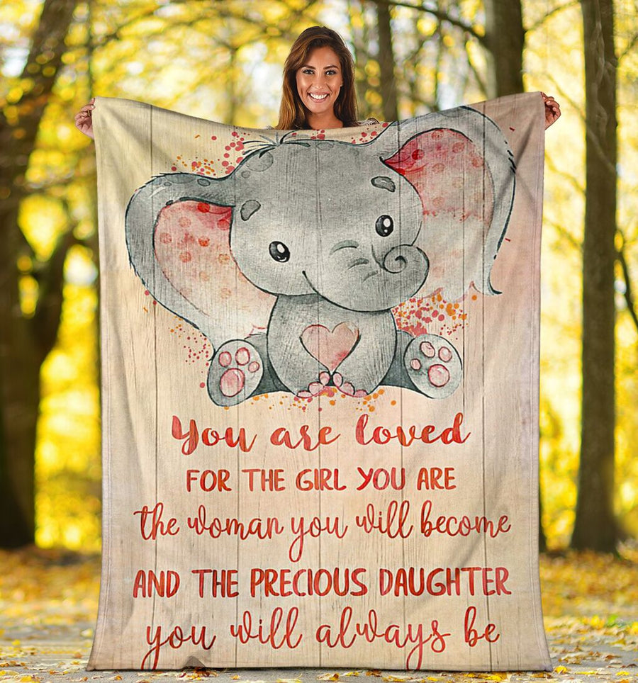 Omegaspeaker-Fleece Blanket - Gift for daughter - Birthday gift - The precious daughter you will always be