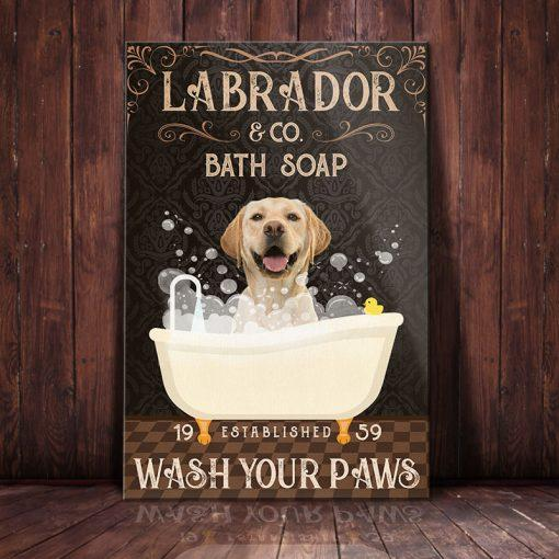 Omegaspeaker -Labrador Retriever Dog Bath Soap Company Canvas