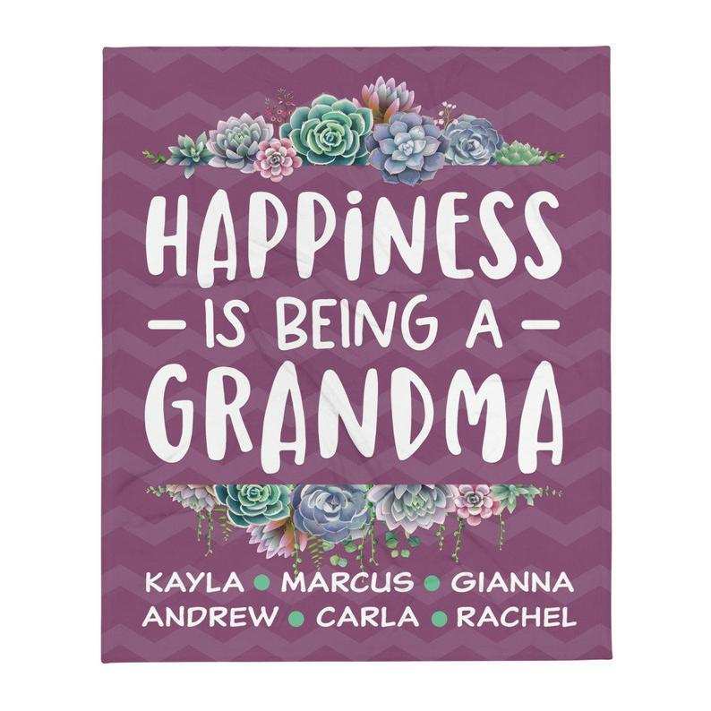 Succulent Gift for Grandma / Happiness Being a Grandma / Gardening Gift for Grandma - 1
