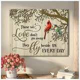 Omegaspeaker - Christmas Gift IdeaCardinal + Hummingbird - Those We Love Canvas Wall Art/ Decor/ Gift-Love Hummingbird