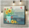 Omegaspeaker -Christmas Gift Idea Cardinal + Sunflower - When You Believe Canvas Wall Art/ Decor/ Gift-Love Sunflower