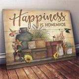 Omegaspeaker - Christmas Gift Idea -Hummingbird - Happiness Is Homemade Canvas Wall Art/ Decor/ Gift-Love Hummingbird