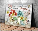Omegaspeaker- Hummingbird - Make It Amazing Canvas Wall Art/ Decor/ Gift-Love Hummingbird