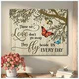 Omegaspeaker - Butterfly - Those We Love 2 - Canvas - Wall Art/ Decor/ Gift-Love Butterfly