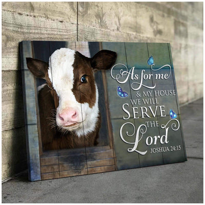 Omegaspeaker - Cow - As For Me Canvas Wall Art/ Decor/ Gift-Love Cow