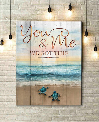 Omegaspeaker Canvas - Turtle - You & Me 2 Canvas Wall Art/ Decor/ Gift-Love Turtle
