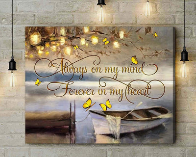 Omegaspeaker - Butterfly - Forever In My Heart - Canvas - Wall Art/ Decor/ Gift-Love Butterfly