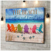 Omegaspeaker - Turtle - The Beach Canvas Wall Art/ Decor/ Gift-Love Turtle