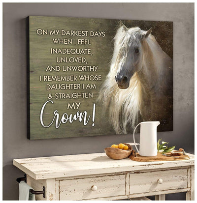 Omegaspeaker - Horse - Crown Canvas Wall Art/ Decor/ Gift-Love Horse
