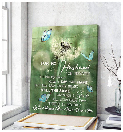 Omegaspeaker - Butterfly- For my husband Canvas Wall Art/ Decor/ Gift-Love Butterfly
