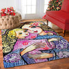 OmegaSpeaker-Christmas Gift Woman And Child In Flowers Rug - Gift - Home Decor