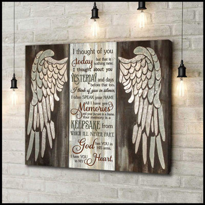 Omegaspeaker-Angel-I Thought Of You Canvas Wall Art/ Decor/ Gift-Angel