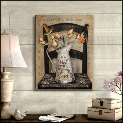 Omegaspeaker-Hummingbird-It Is Well With My Soul Wall Art/ Decor/ Gift-Love Hummingbird