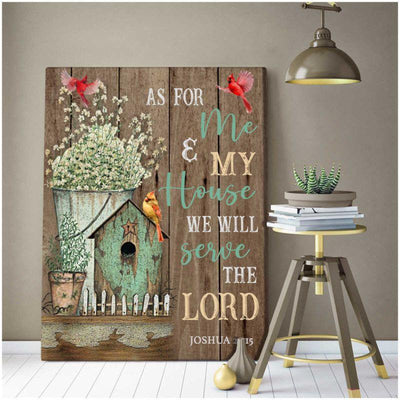 Omegaspeaker -We will serve the Lord Wall Art/ Decor/ Gift-Love Cardinal