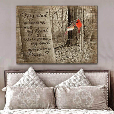 Omegaspeaker But My Heart Knows You Are At Peace Cardinal Canvas Wall Art/ Decor/ Gift-Love Cardinal