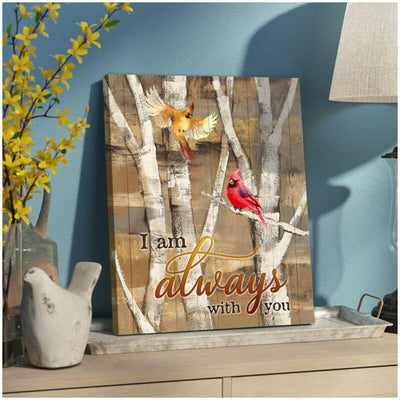 Omegaspeaker- Cardinal-I Am Always With You Canvas Wall Art/ Decor/ Gift-Love Cardinal