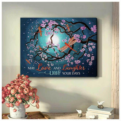 Omegaspeaker Love and Laughter Dragonfly Canvas Wall Art/ Decor/ Gif-Love Dradonfly