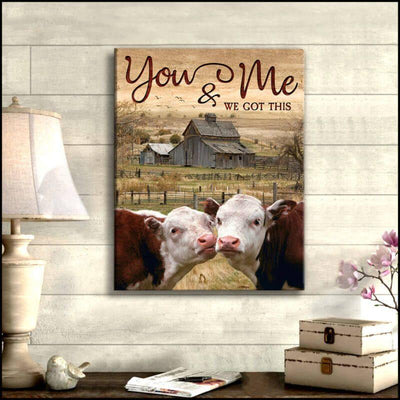 Omegaspeaker-Cow-You and Me Canvas Wall Art/ Decor/ Gift-Love Cow